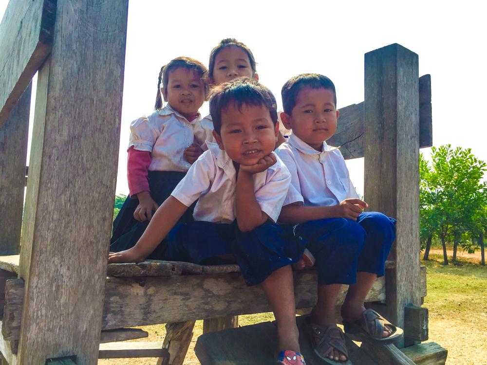 School children in a rural part of Cambodia.