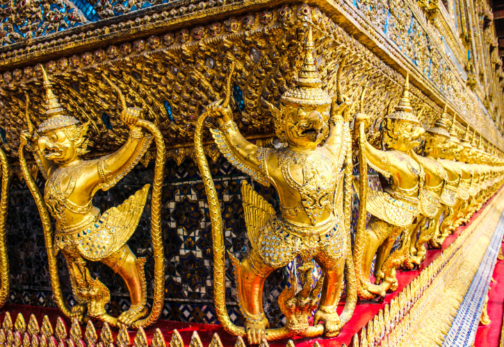 Cool shot of the Grand Palace in Thailand.