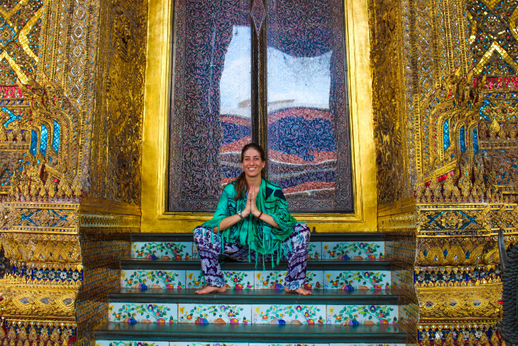 """Malasana aka """"sitting"""" in this part of the world. Much healthier for the hips!"""