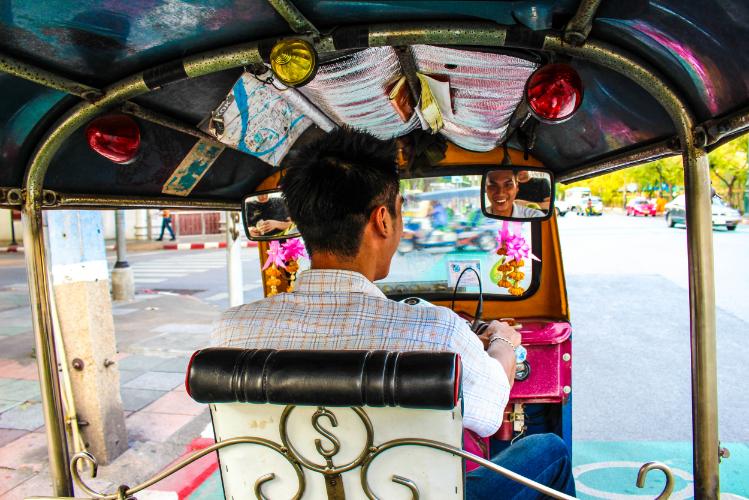 Borrie, our Tuk Tuk driver in Bangkok.