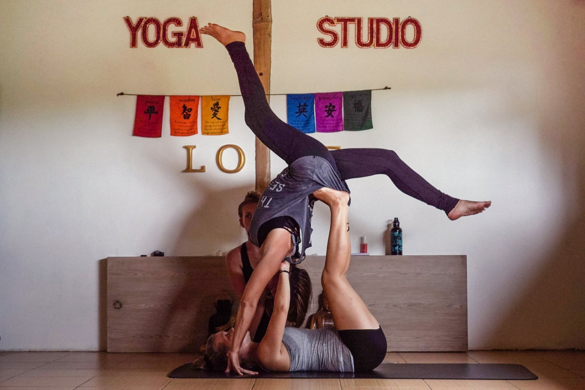 The retreat yogis loved the AcroYoga workshop!