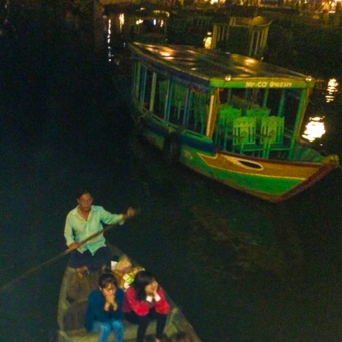 Gondola rides in the canals of Hoi An. (Excuse the quality, see above.)
