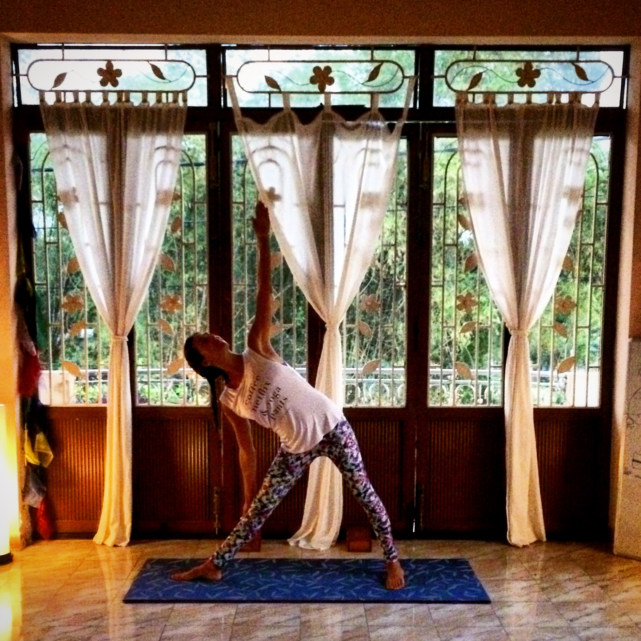 Yoga time at Nomad Yoga in Hoi An, Vietnam.