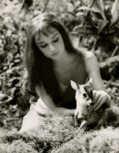 "Audrey Hepburn as Rima in ""Green Mansions"""