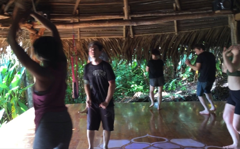 Starting the day with Ecstatic Dance during our retreat at Wild Sun Jungle Resort in Cabuya, Costa Rica