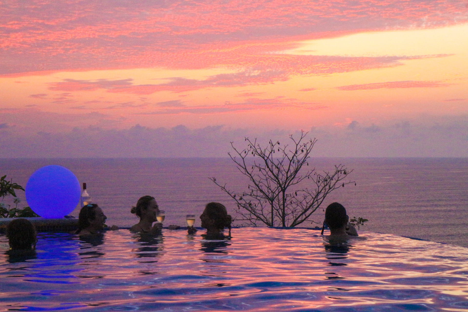 Enjoying magical sunsets that never seem to end with our retreat guests (old & new friends).