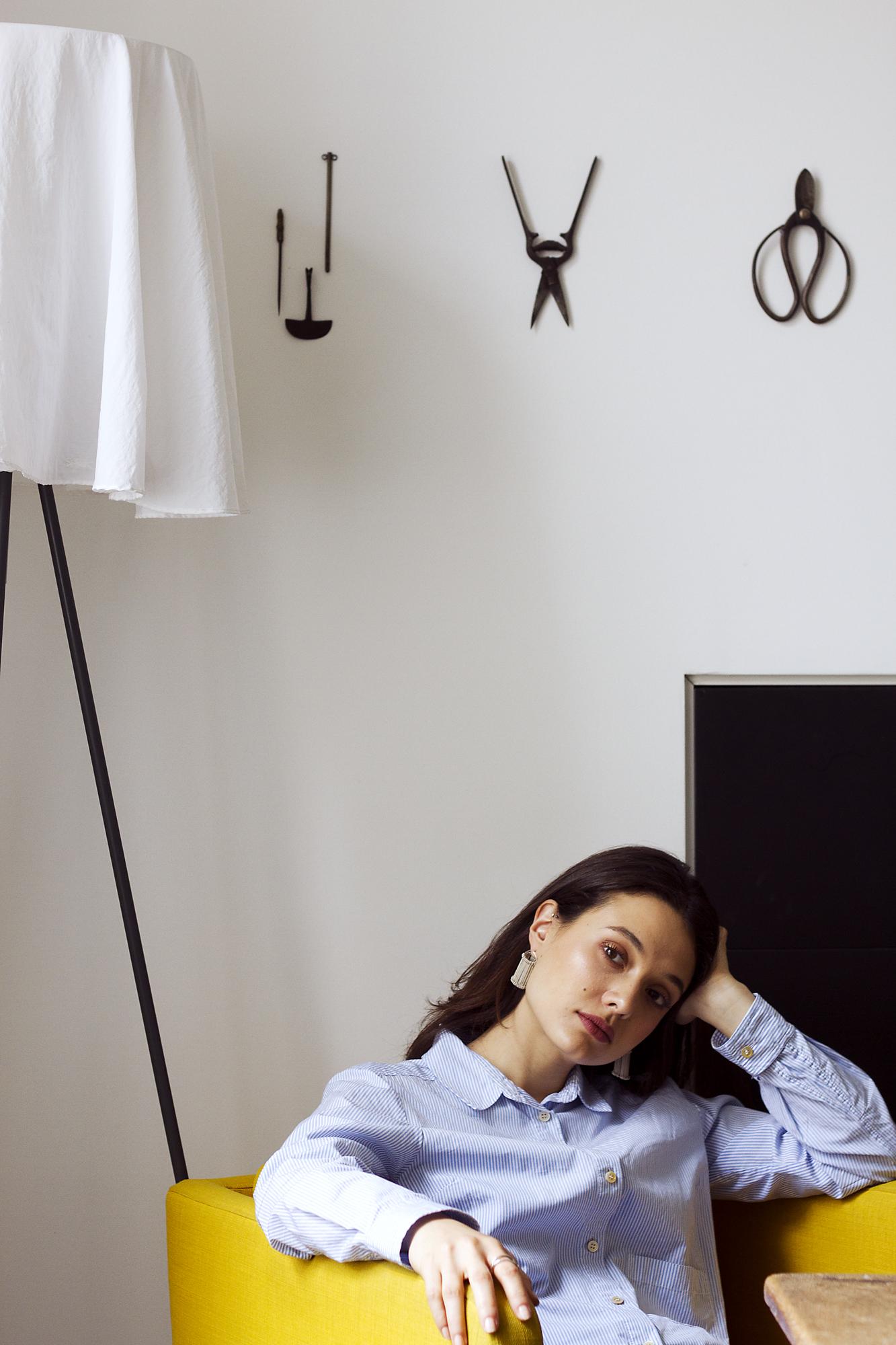 HEDDLE   earrings  in silver Photography -Katariina Yli-Malmi Model - Chiara Biscontin MUA - Shelley Yadav