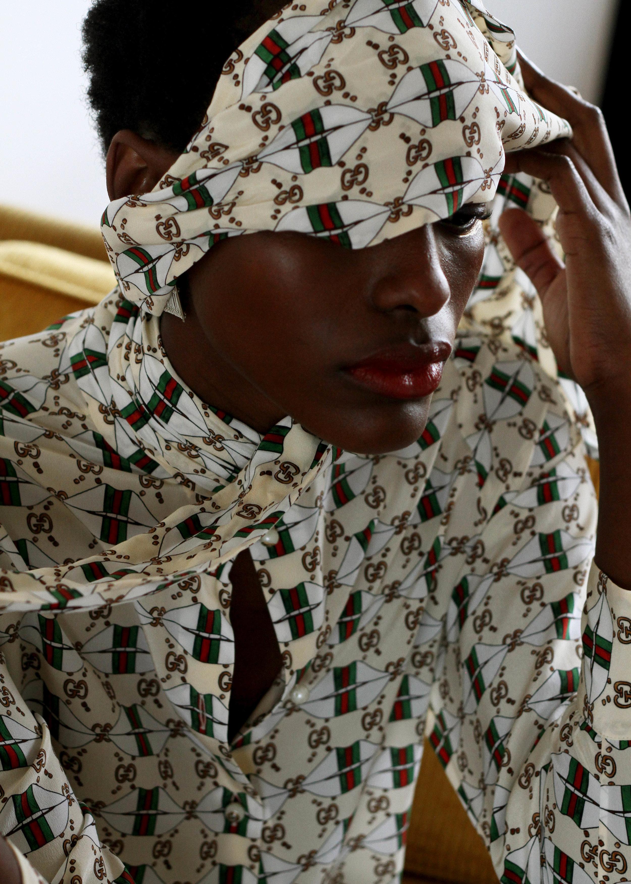 Blanc magazine   PROWL editorial Oct 2017 Photography - Mustafa Sarwar Model - Natasha Luwedde Styling -  I'll Be Your Mirror  MUA -  Madeleine V Brown  Set Design -  Holly Hmiddouche