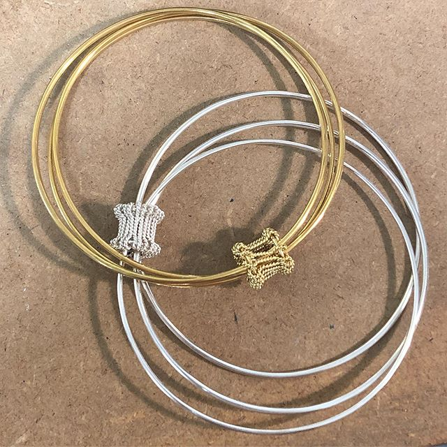 Lady of the House bangles in silver and gold plated silver