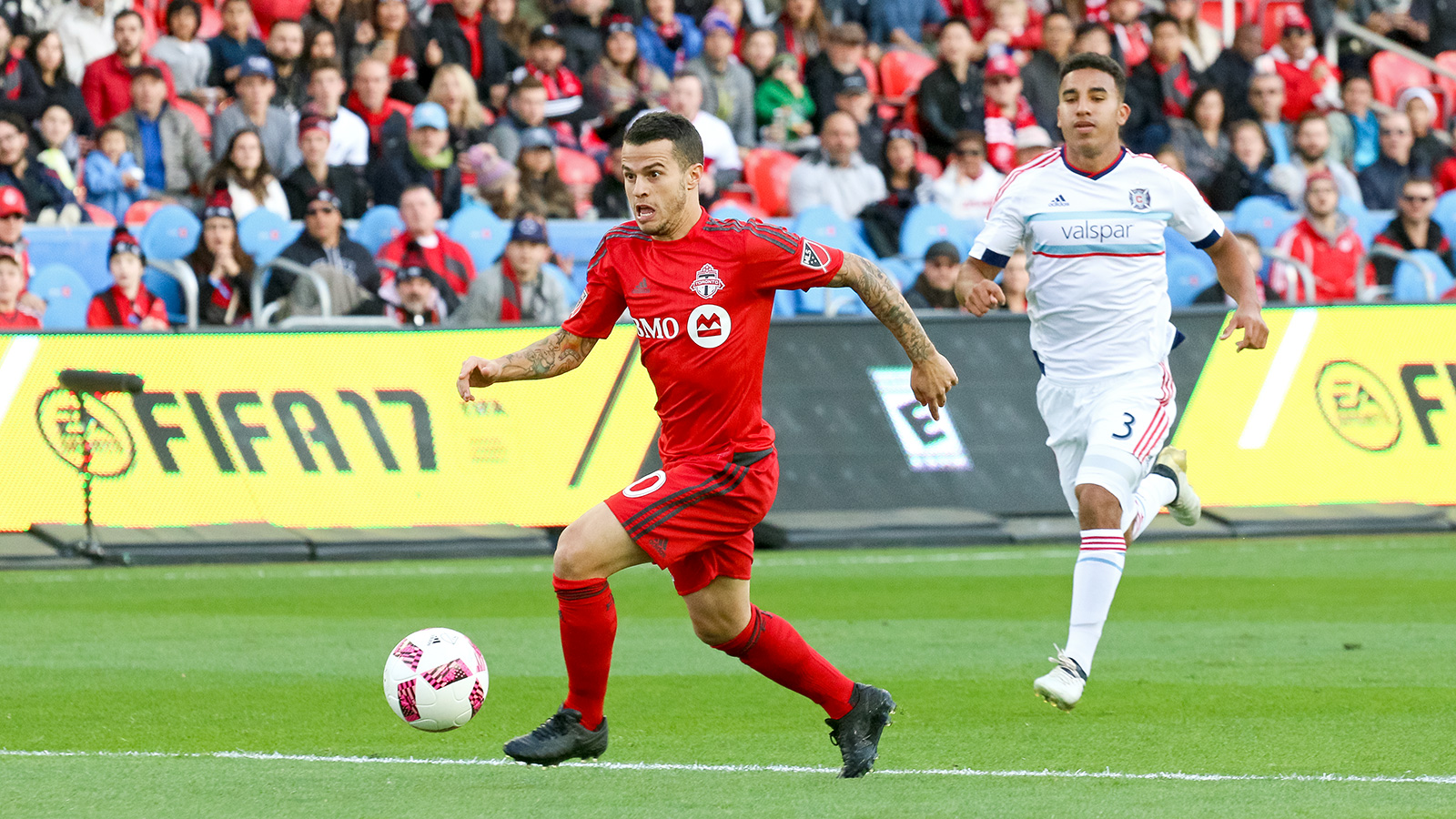 Giovinco breaking away from play.