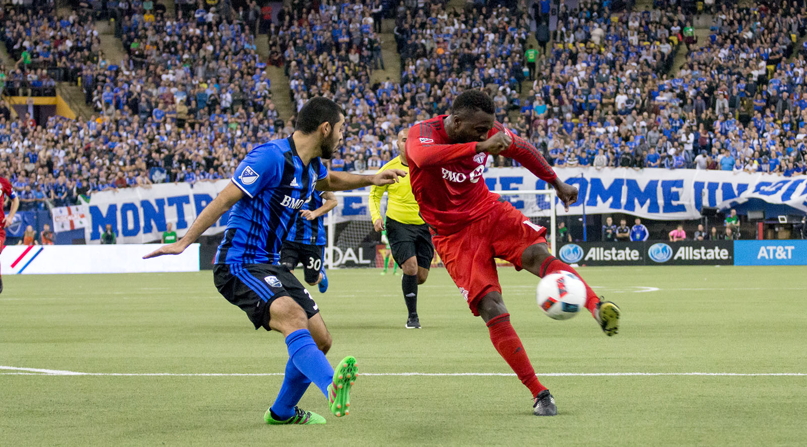 Altidore with a goal scoring opportunity during the second half of the eastern conference final in Montreal on November 22, 2016. Images by Dennis Marciniak.