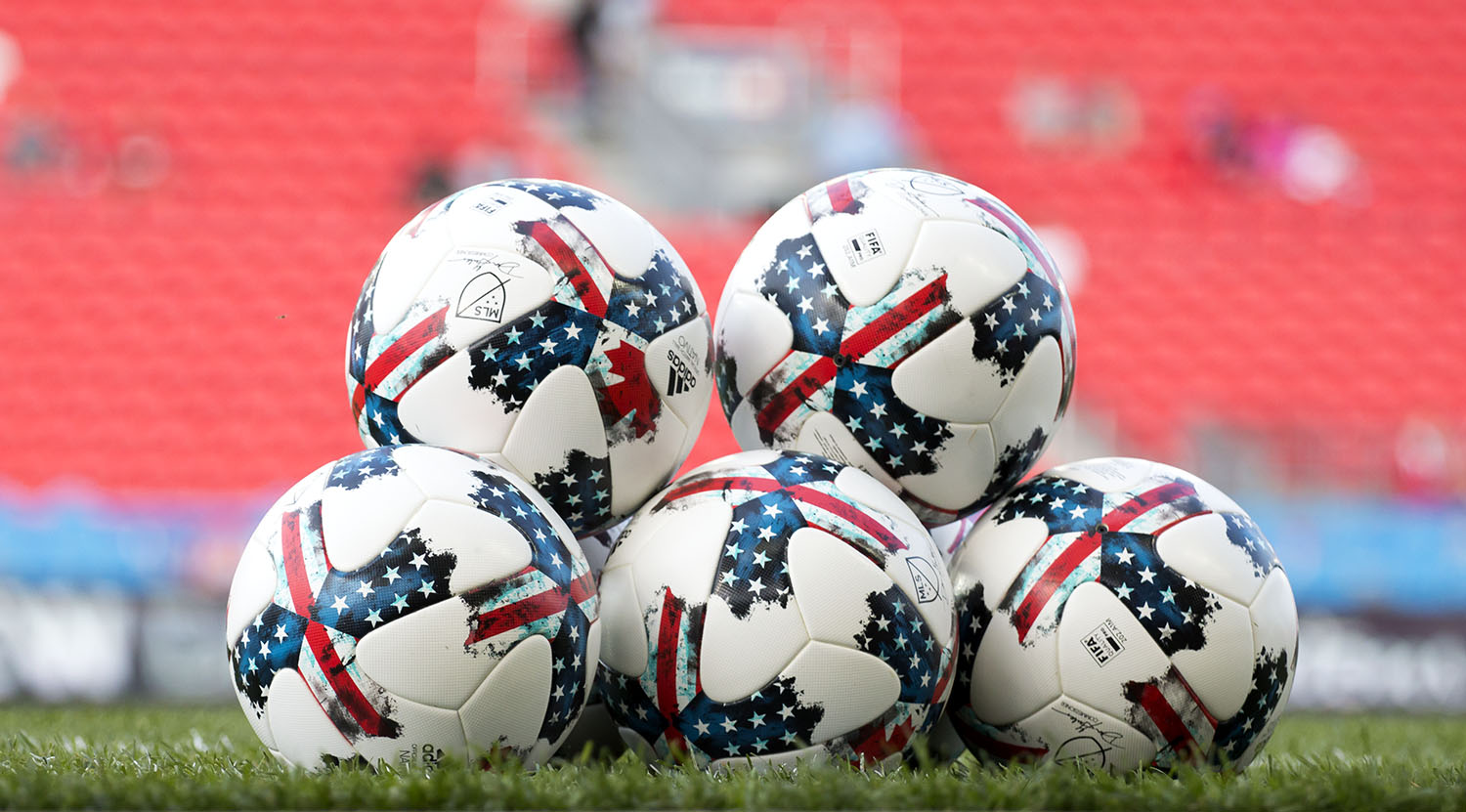 The Adidas MLS 2017 Official Match Ball for Major League Soccer the Navito. Image by Dennis Marciniak of denMAR Media.