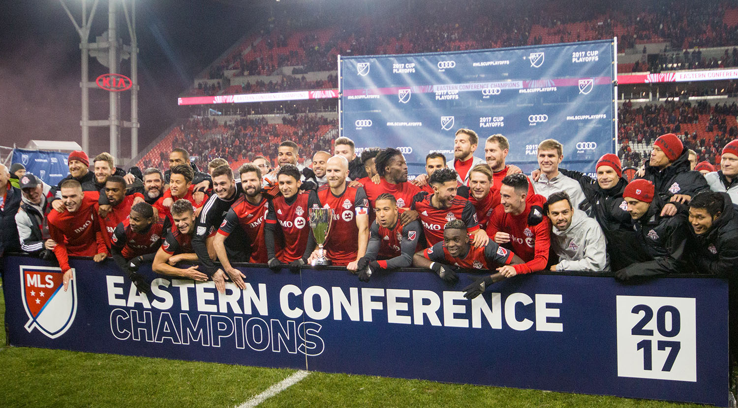 Your 2017 Eastern Conference Champions Toronto FC. Image by Dennis Marciniak of denMAR Media.