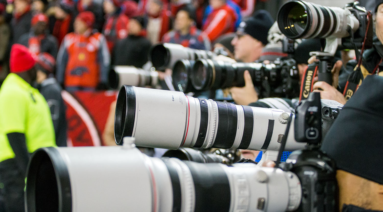 Media from various North American media outlets fill the south end to cover the 2017 MLS Cup Final.Image by Dennis Marciniak of denMAR Media.
