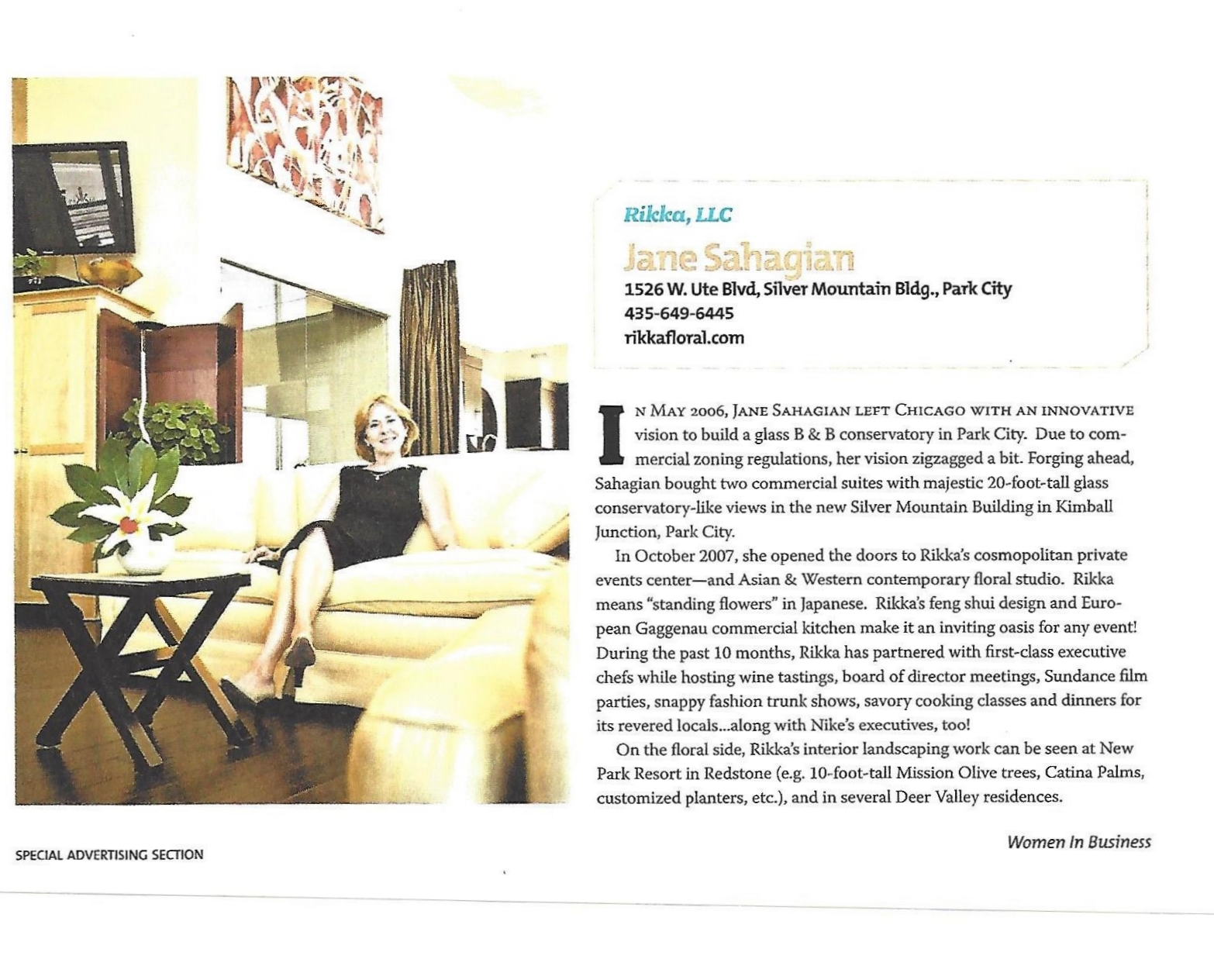 Women in Business (Salt Lake Magazine Oct. 2008) - Article on Rikka, LLC_Page_2.jpg