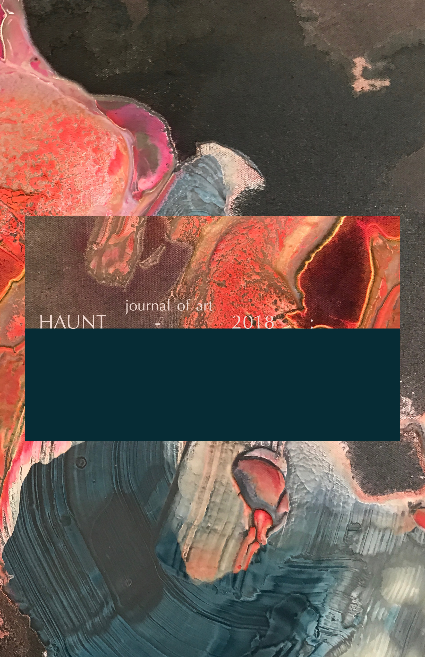 Haunt Journal of Art, Volume 5 - Edited by Charisse Pearlina Weston and Linette Park.Thematized on the status of the radical in contemporary thought, this issue features work by a diverse array of creative practitioners whose work explores this topic from the margins.IN THIS ISSUEArtwork by visual artists Regina Agu, Andrea Welton, Cosmo Whyte and Antoine Williams.Essays and poetry by emerging and established writers: S. Erin Batiste, Mali Collins-White, Terrance Hayes, Douglas Kearney, Prathna Lor, D.S. Marriott, John Pluecker, Traci-Ann Wint-Hayles, and Frank Wilderson III.Also in this issue: An interview with Erin Christovale (Assistant Curator, Hammer Museum) conducted by Editor-in-Chief Charisse Pearlina Weston, and Managing Editor, Linette Park.