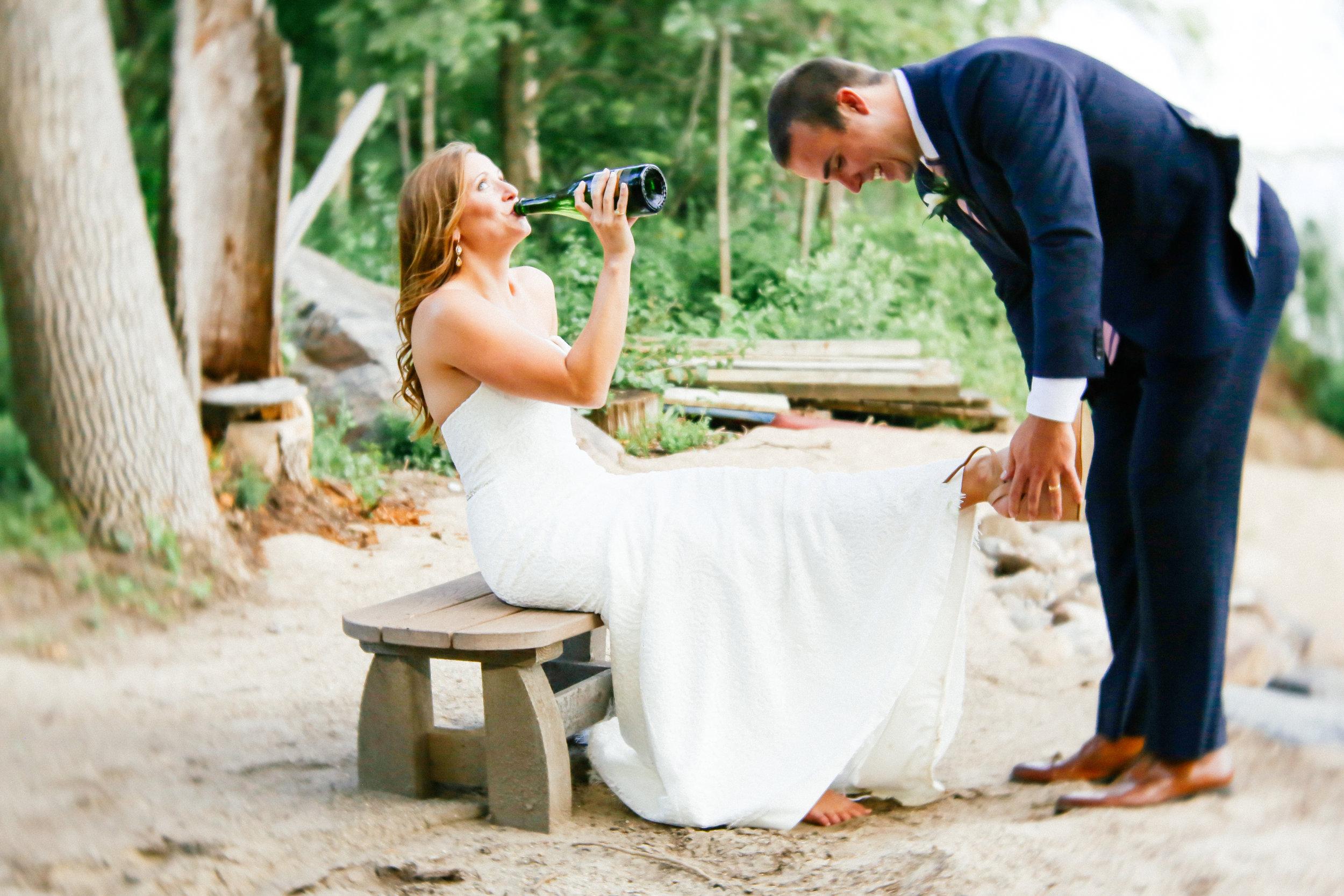 Canoe Wedding Photography