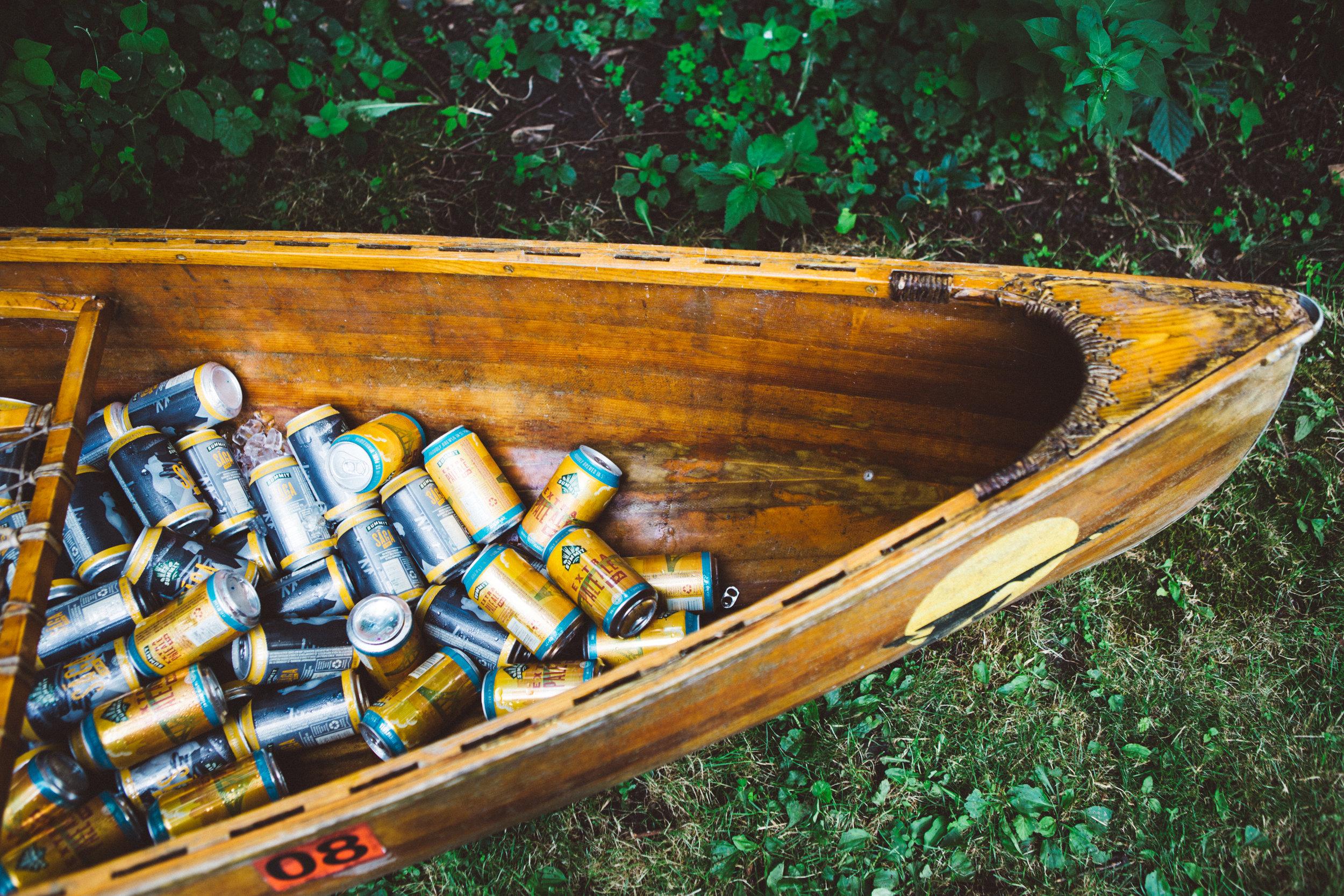 Canoe Wedding Detail