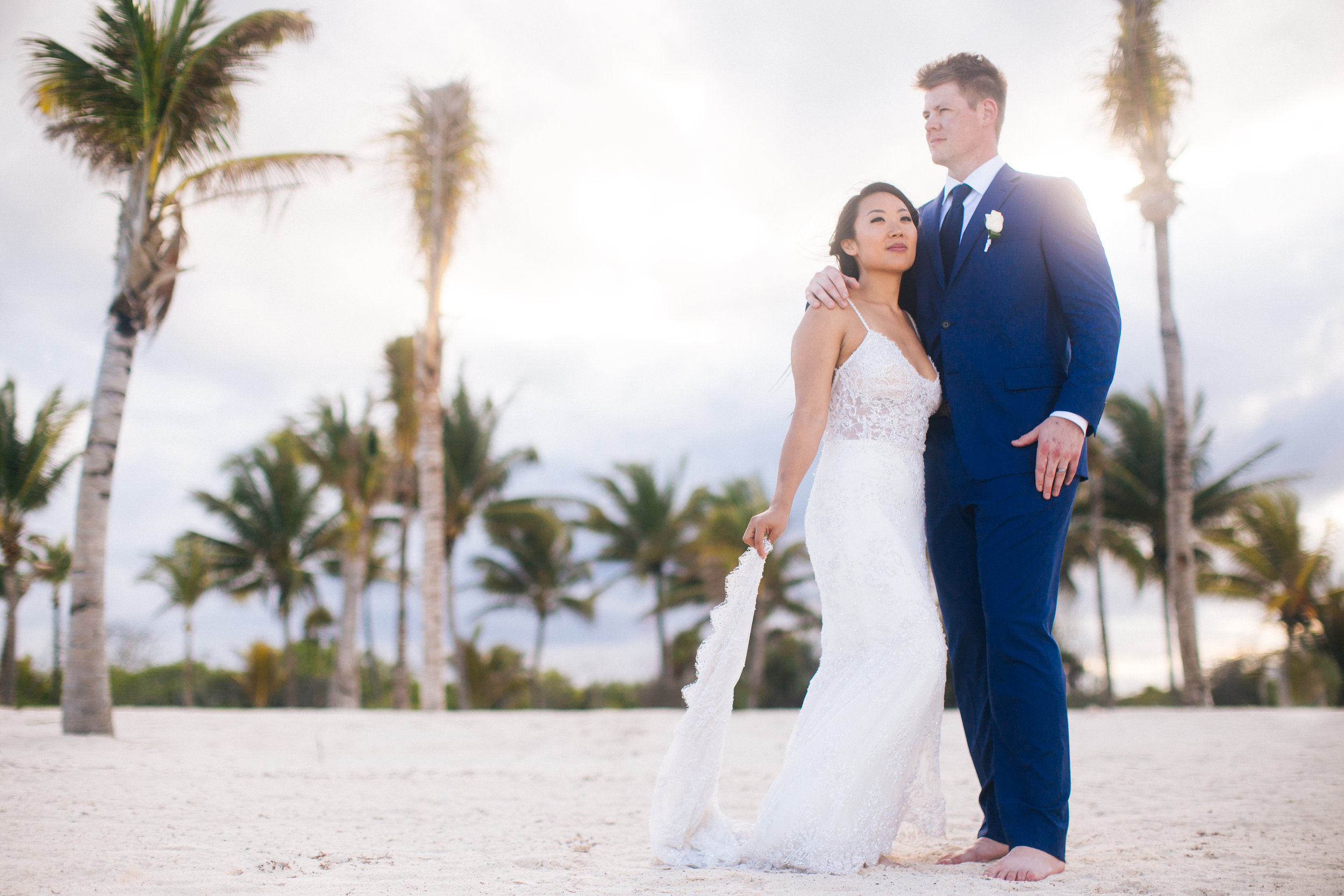Gorgeous Mexico Sunset Wedding Photo