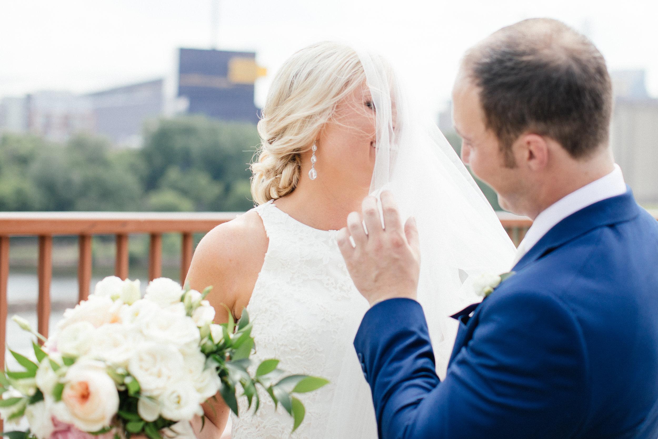 Stone Arch Bridge Wedding Photography