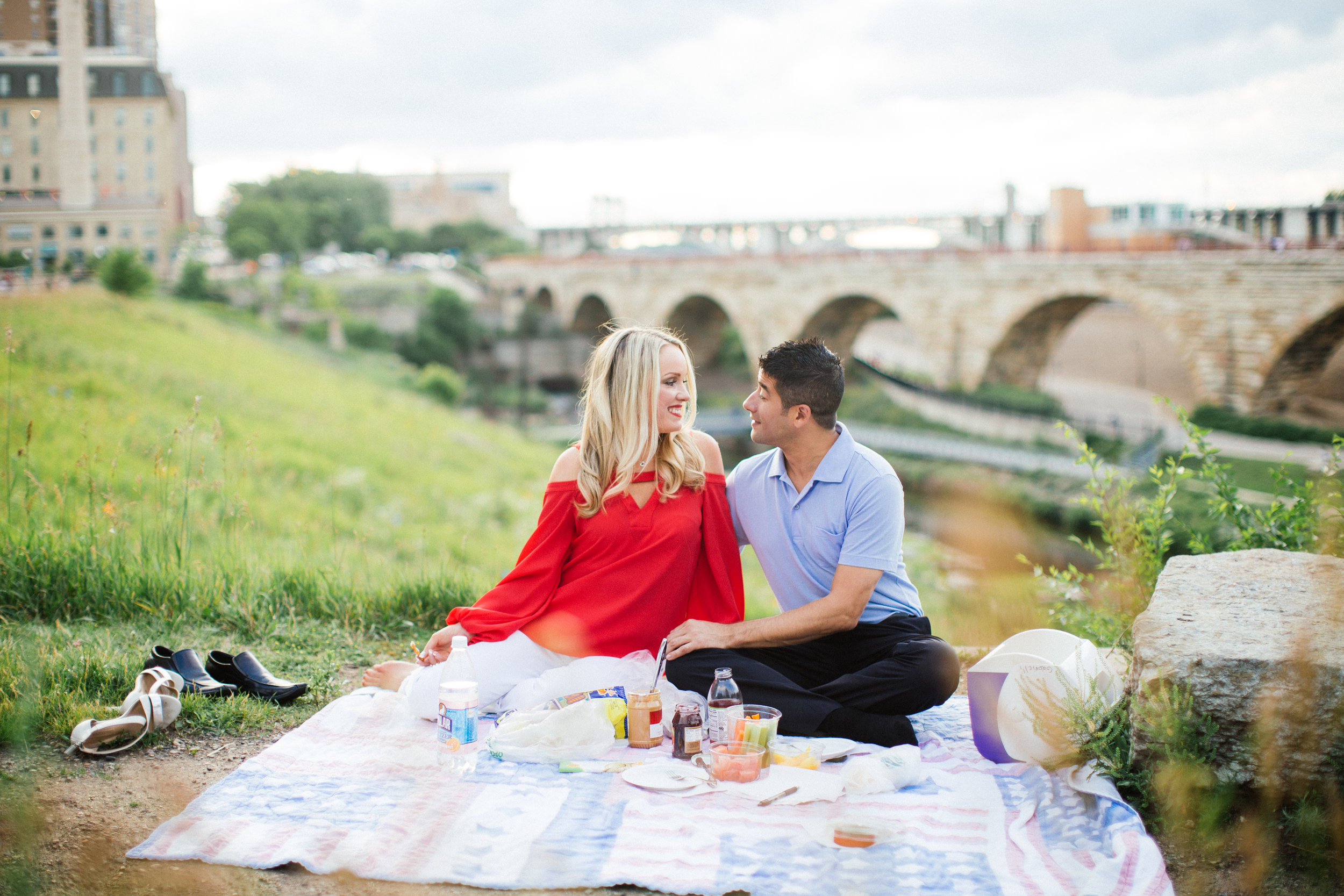 Northeast Minneapolis Engagement Session Picnic