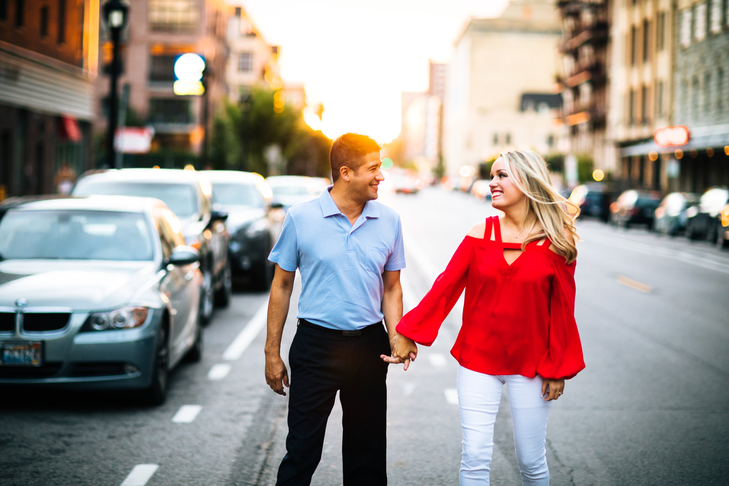 Downtown Minneapolis engagement session