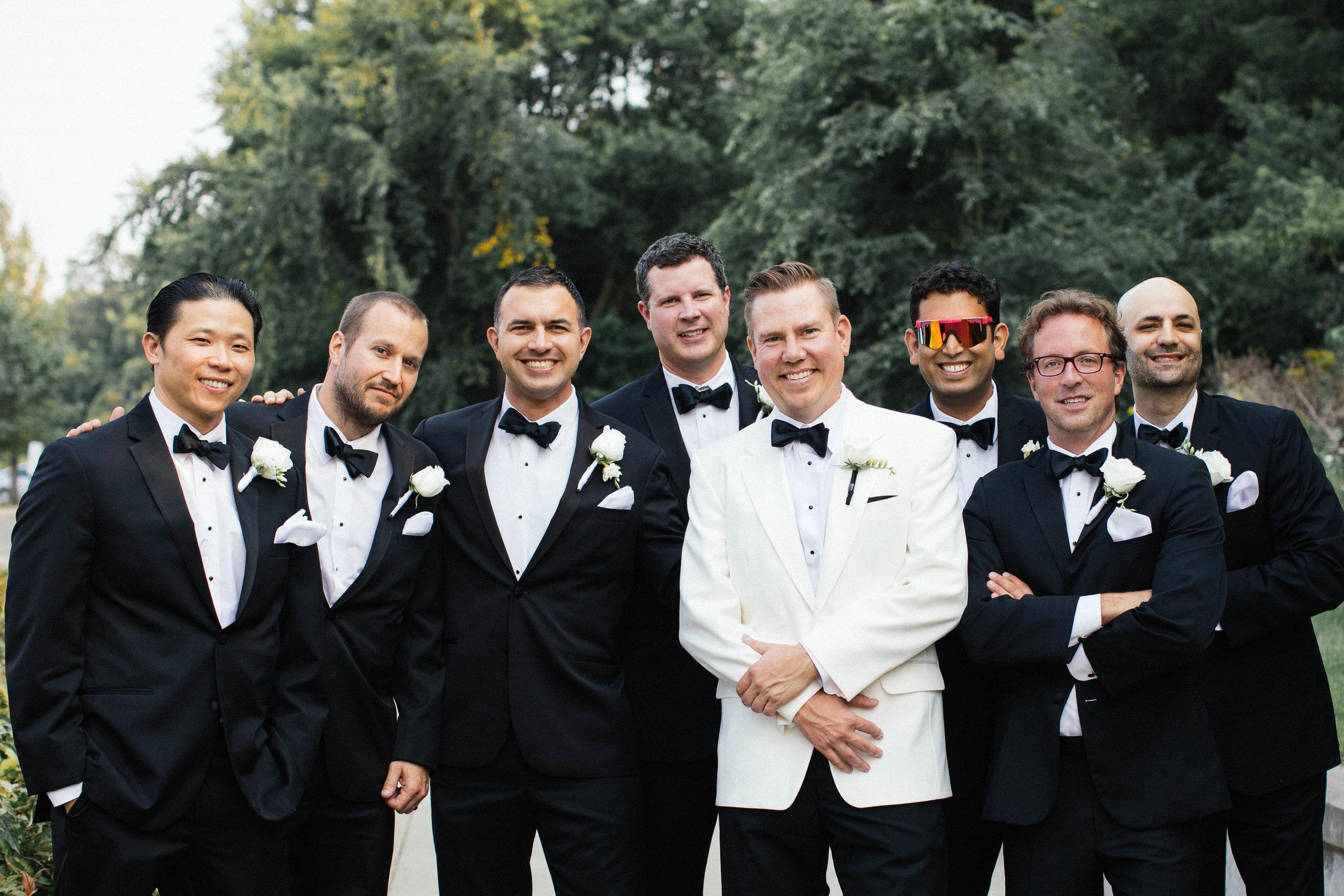 Hewing Hotel Wedding Photography groomsmen photo