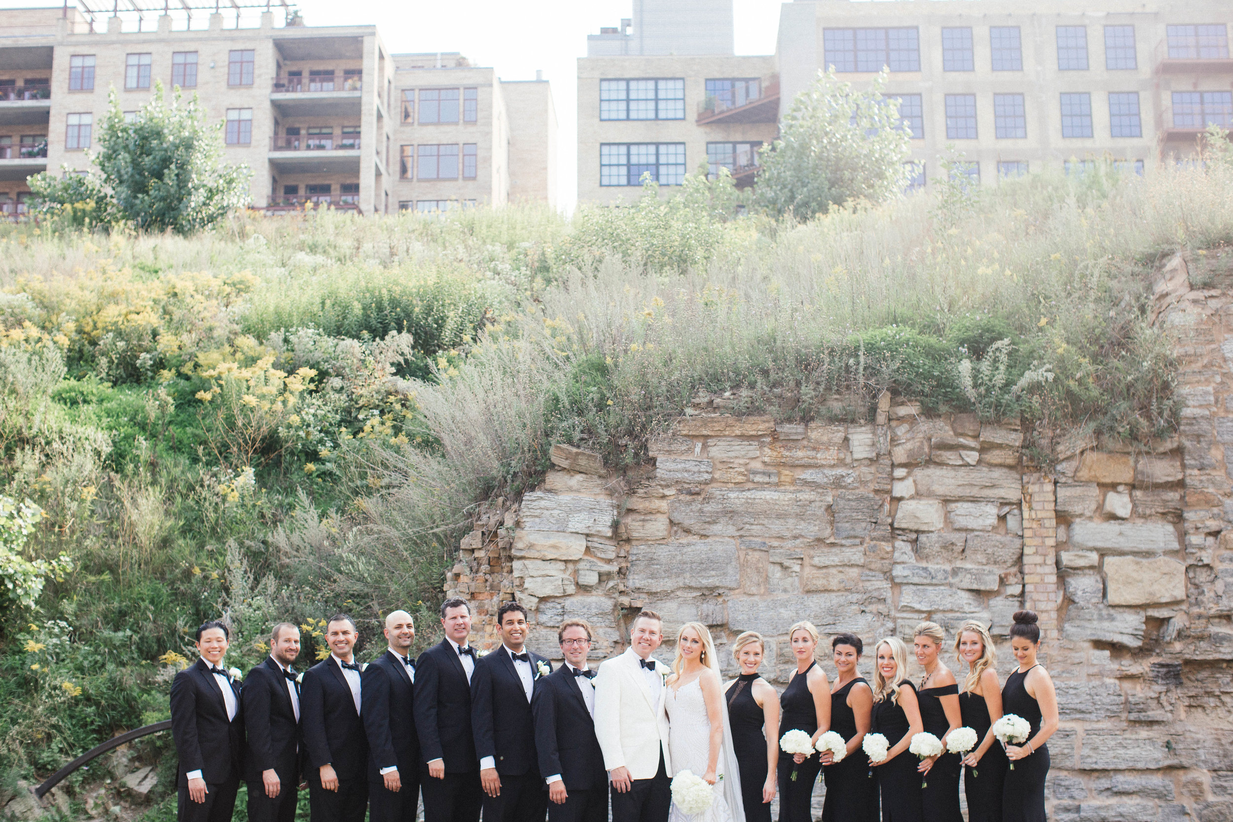 bridesmaids photo at the mill city ruins for a Guthrie wedding