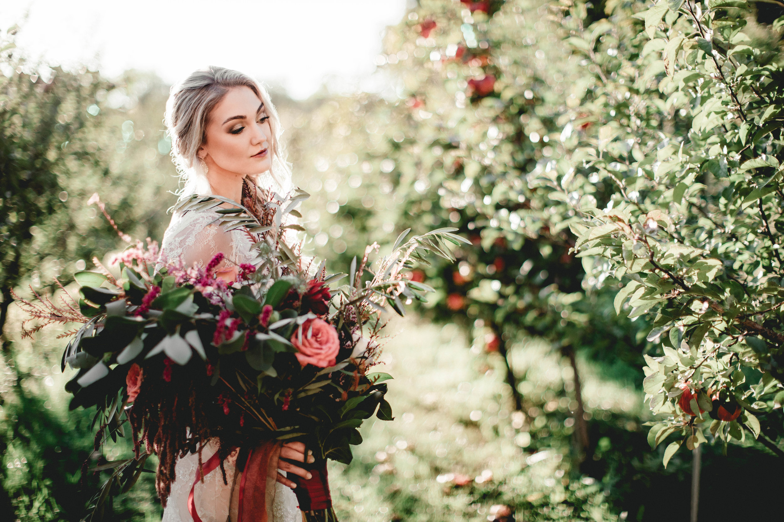 Minnetonka Orchard Wedding Photography Autumn Bride