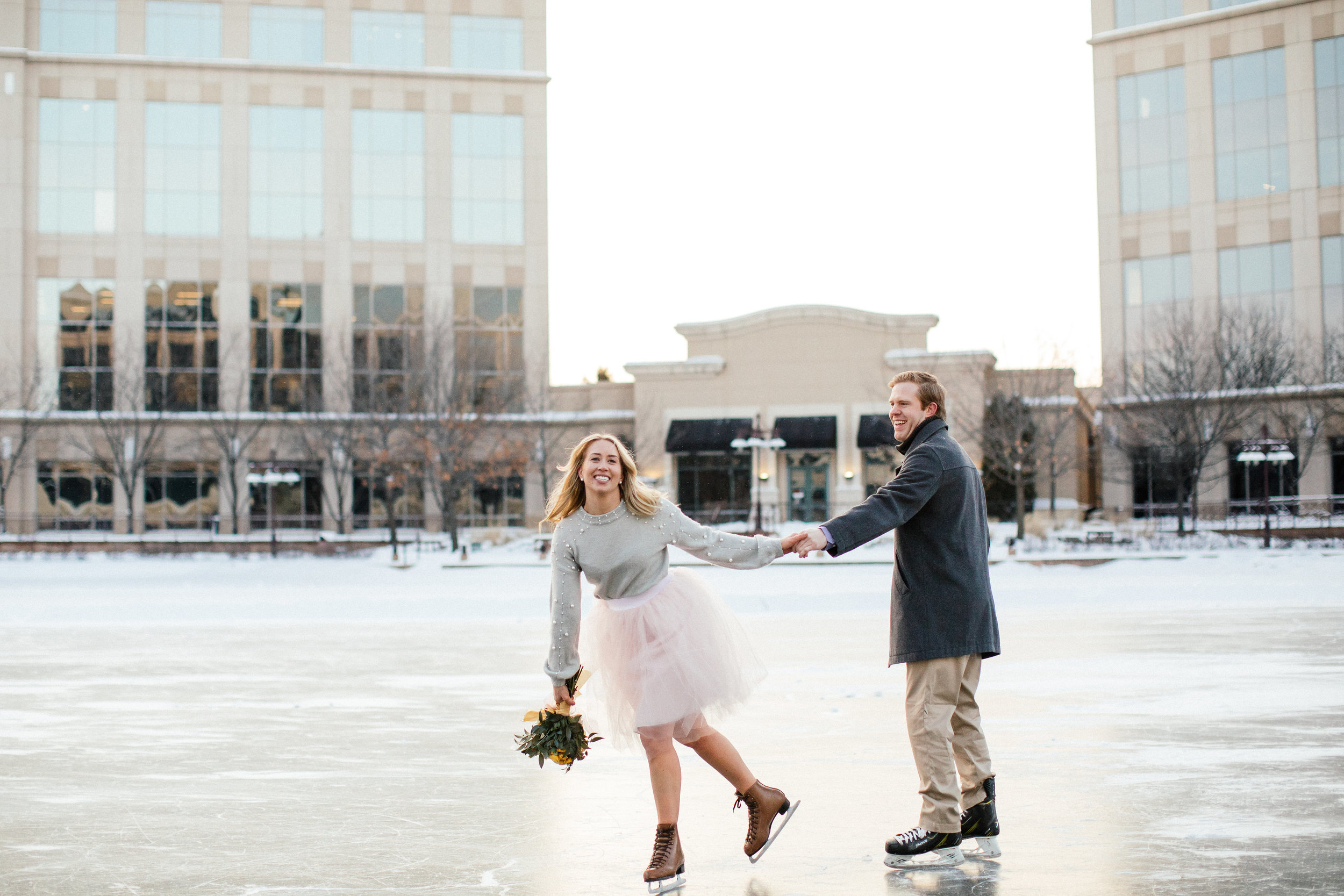 Ice Skating Engagement Minnesota