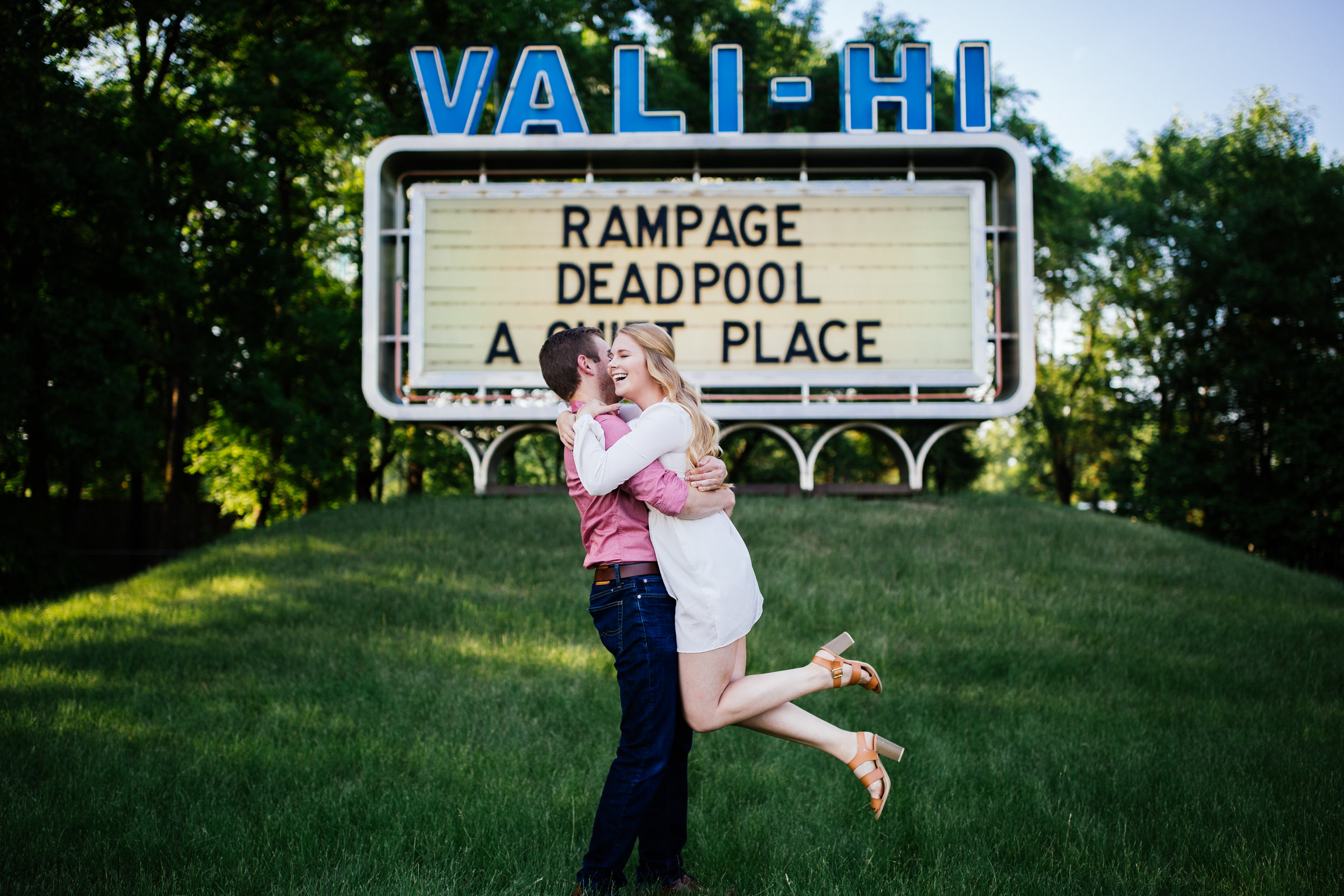 Vali Hi Drive In Engagement Photos