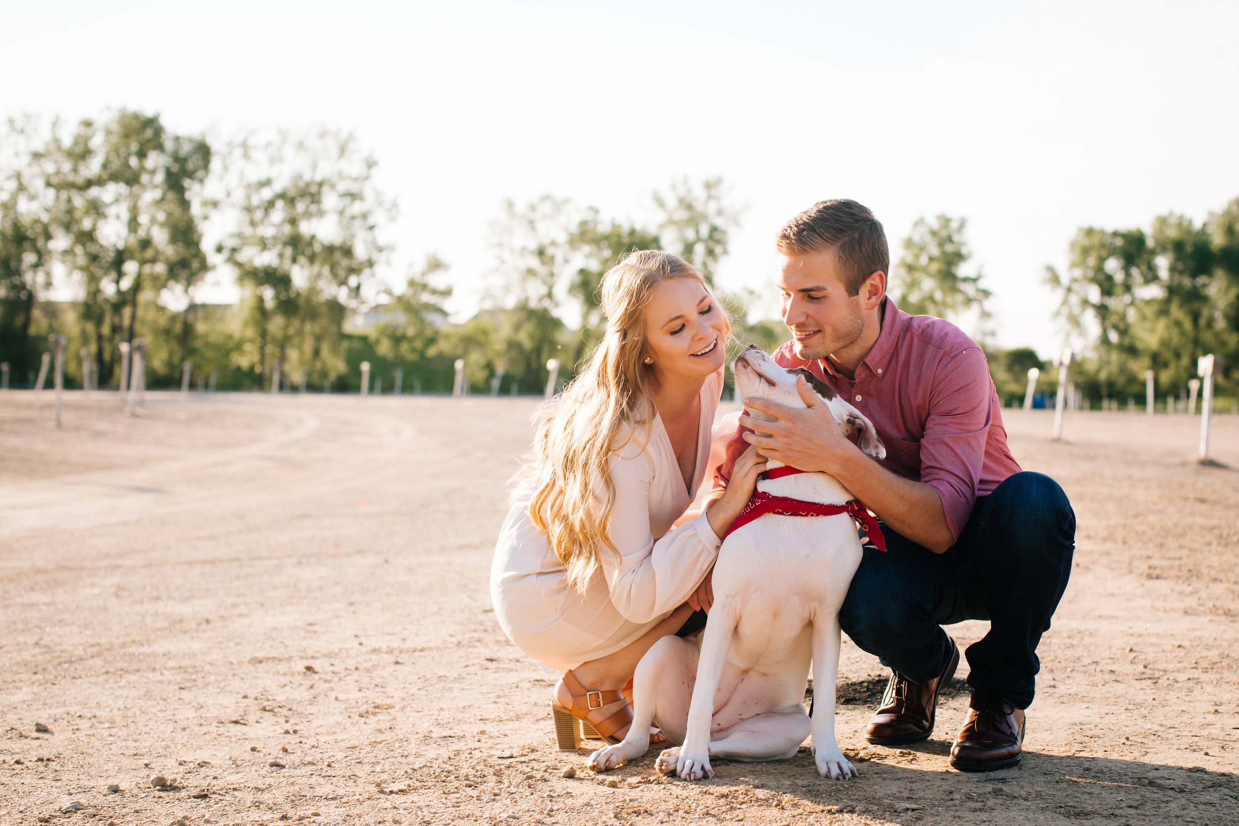 Themed Engagement Session - Dog and Drive In