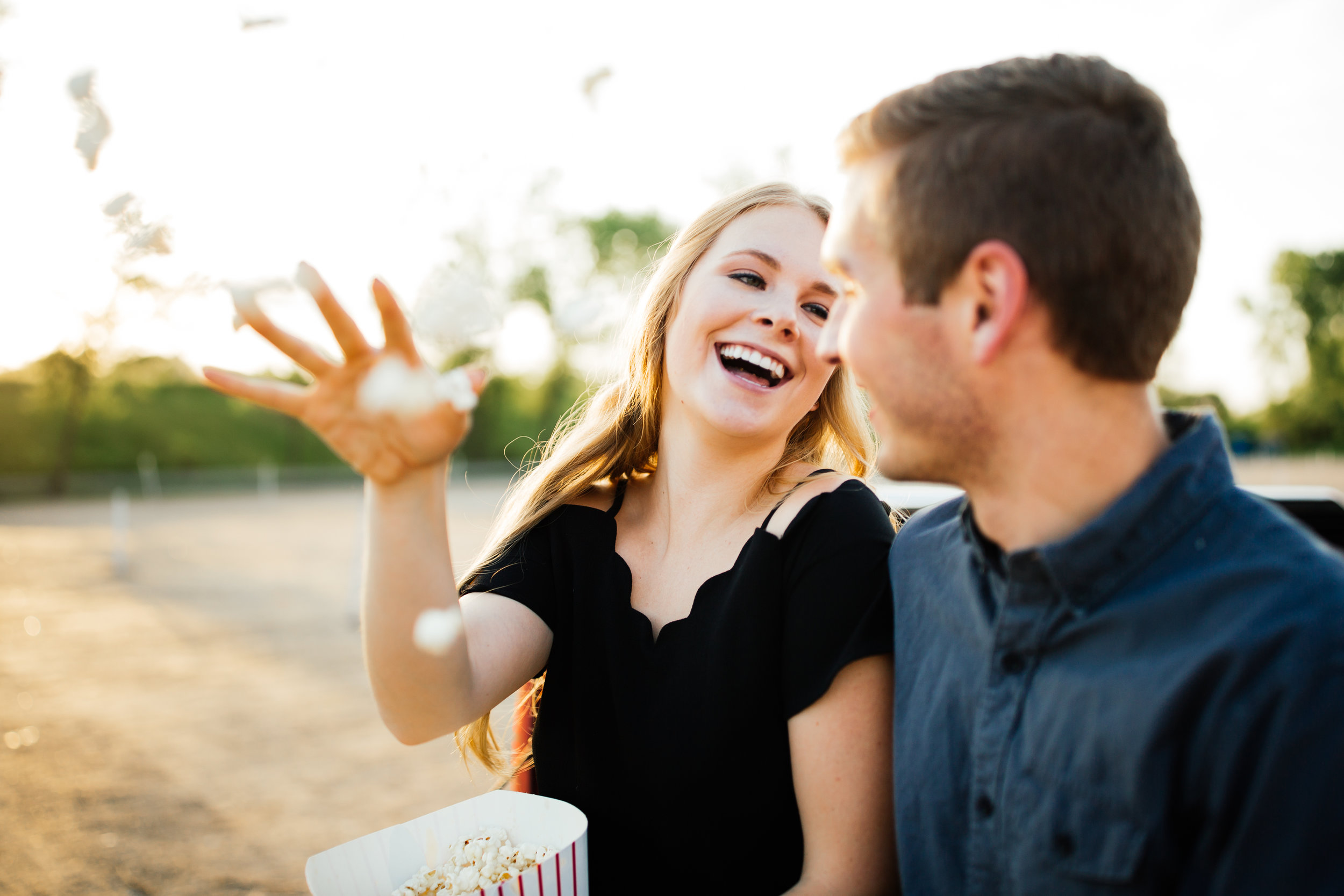 Popcorn Engagement Session Minnesota Photographer