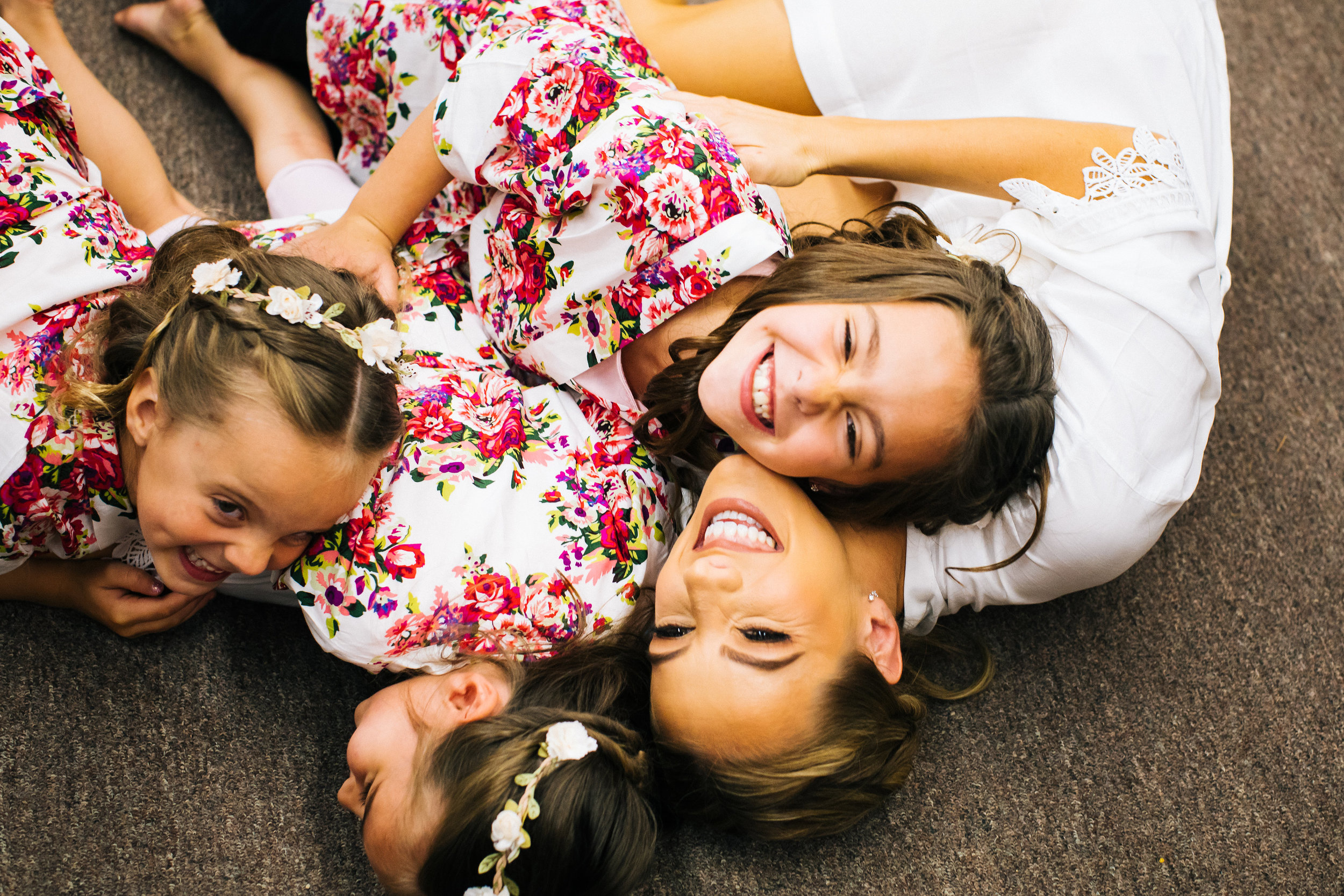 Flower Girls and Bride Getting Ready Photos