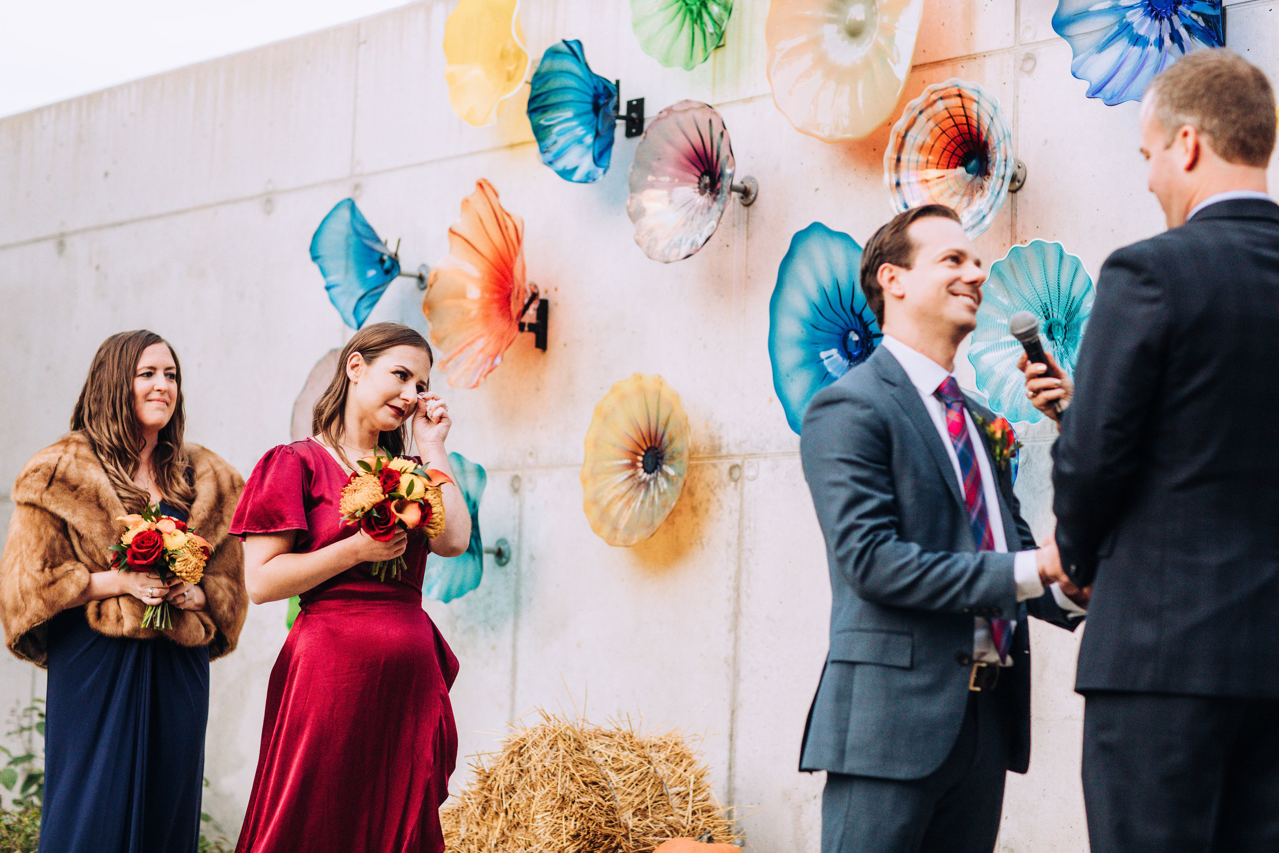 Ignite Glass Studio Chicago Outdoor Wedding Ceremony