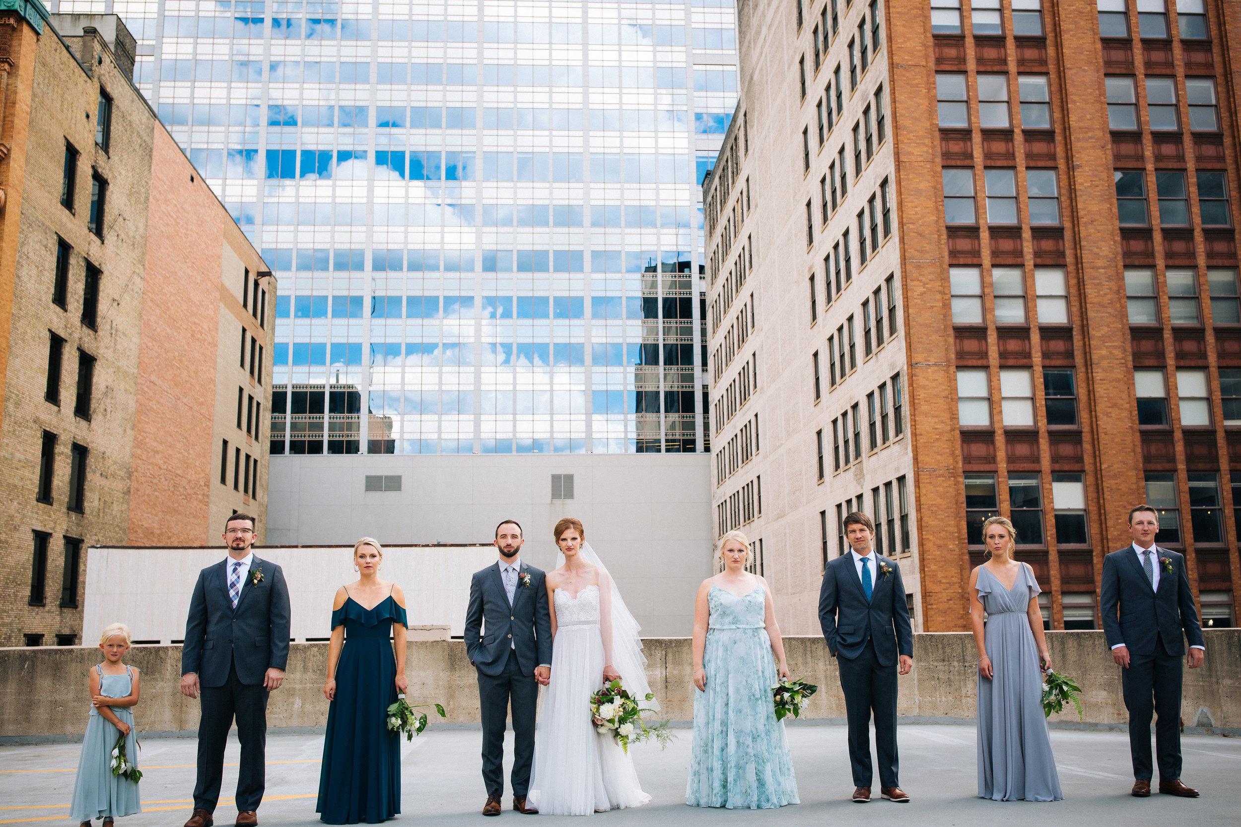 Minneapolis Rooftop wedding photos