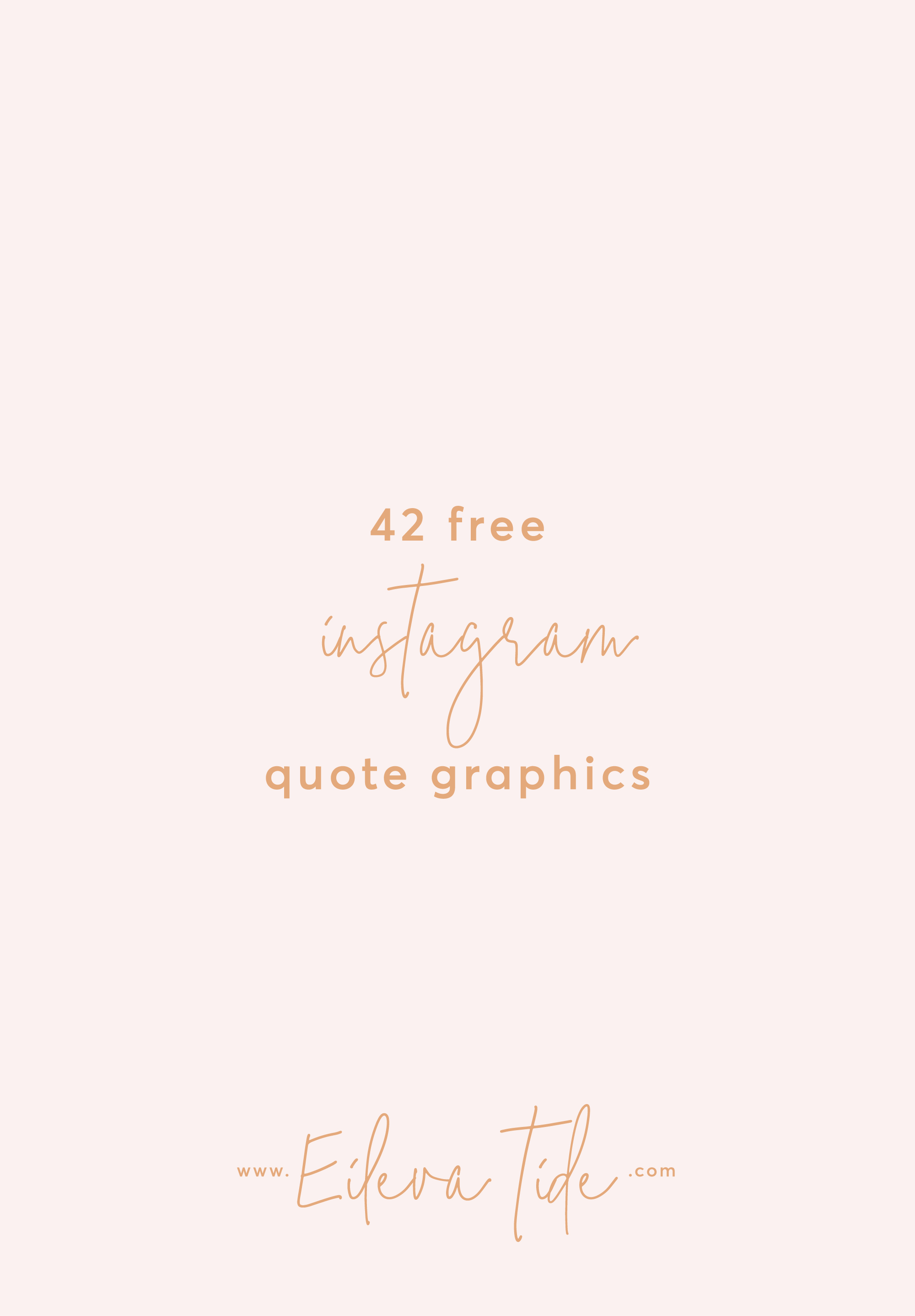 Sometimes you just don't have the time to shoot, edit and post a fresh Instagram pic - I get it! That's why I made you 42 totally free quote graphics to save for a rainy day. Download here!