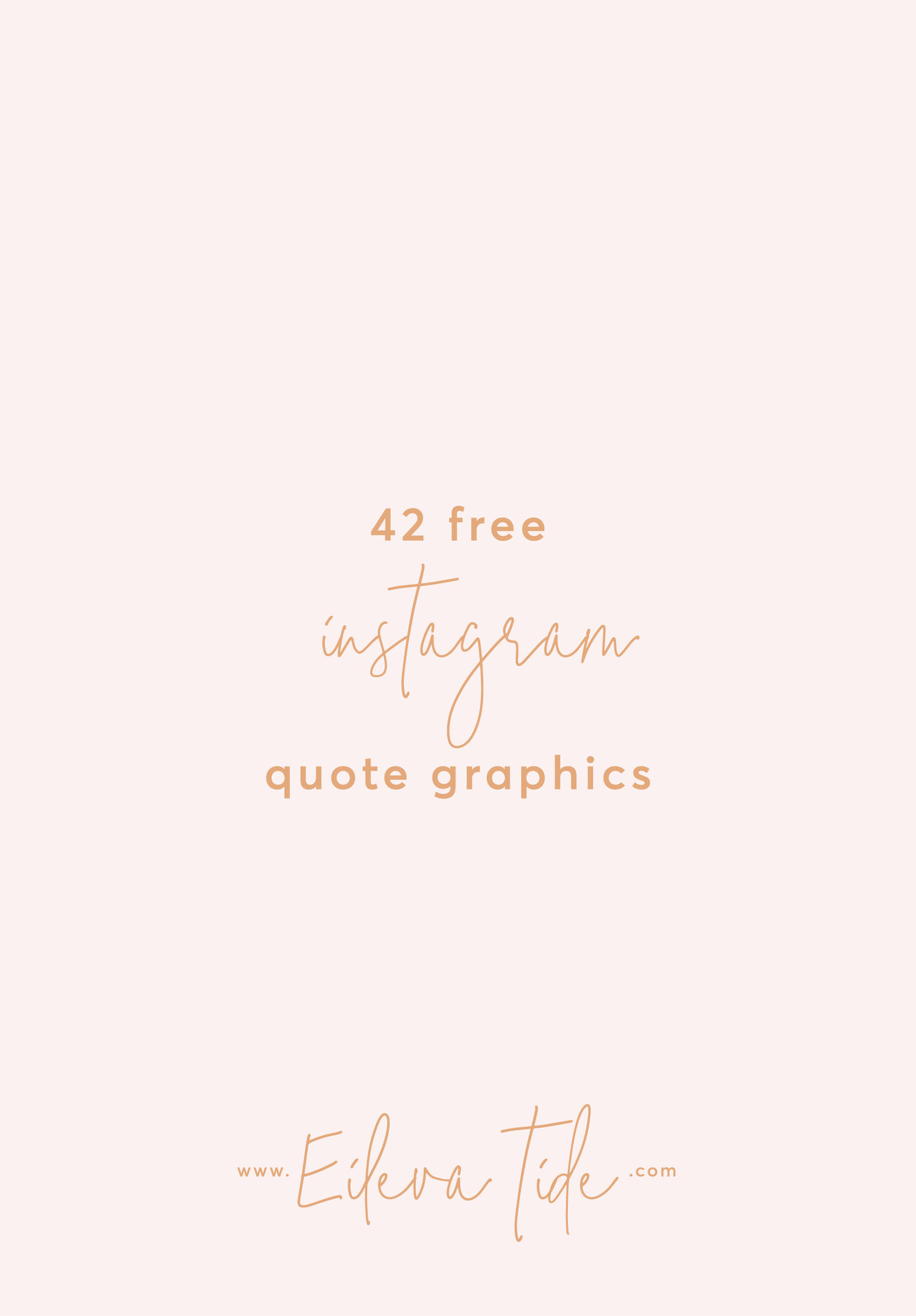 Freebie alert! 42 Free Instagram Quote Graphics! — Eileva ...