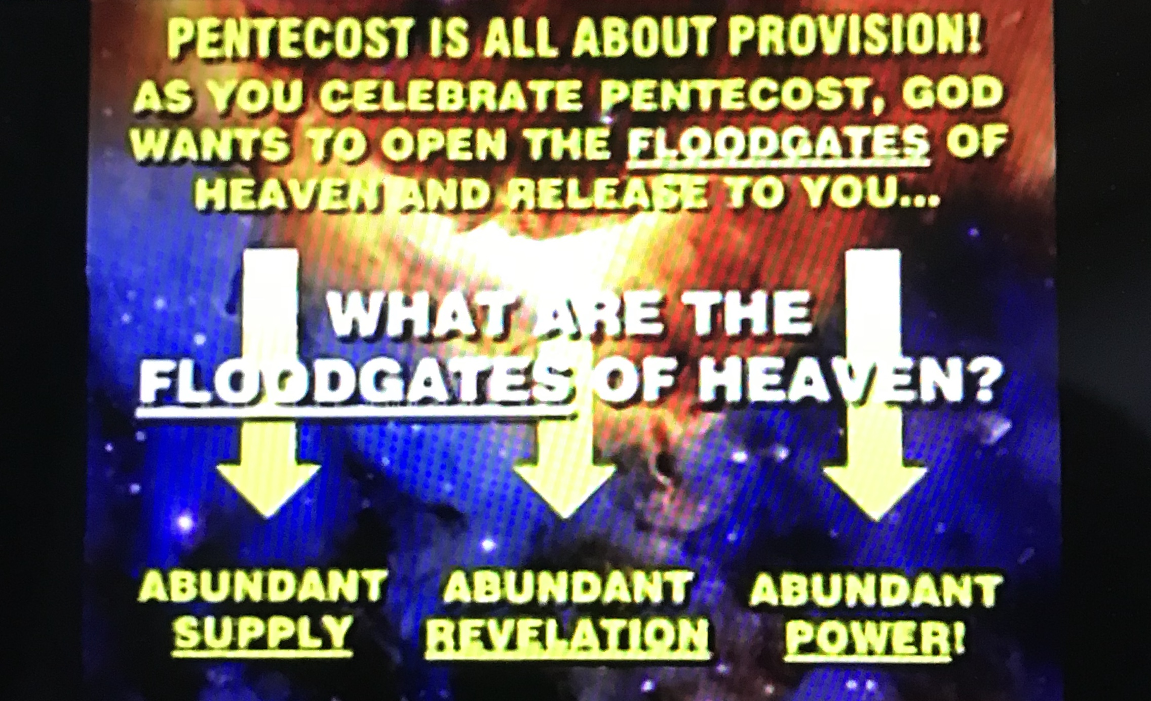 Powerpoint picture from Glory of Zion, Robert Heidler, Pentecost 2019