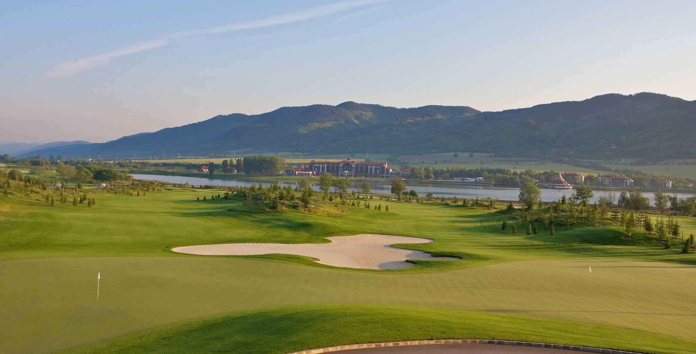 9th & 18th green at Pravets Golf & Spa, Bulgaria