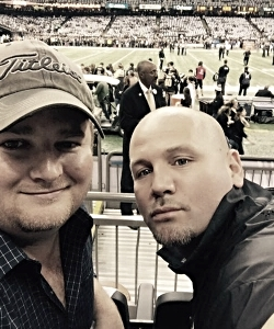Billy and Aaron at the Superdome