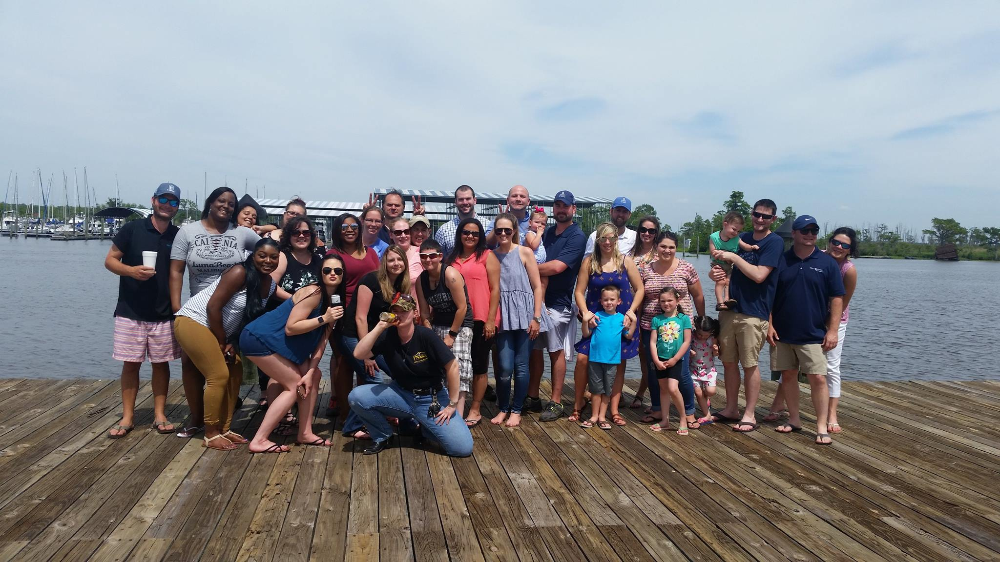 May 11 - We celebrated our birthday by having a blowout on the Tchefuncte river in Madisonville, LA.