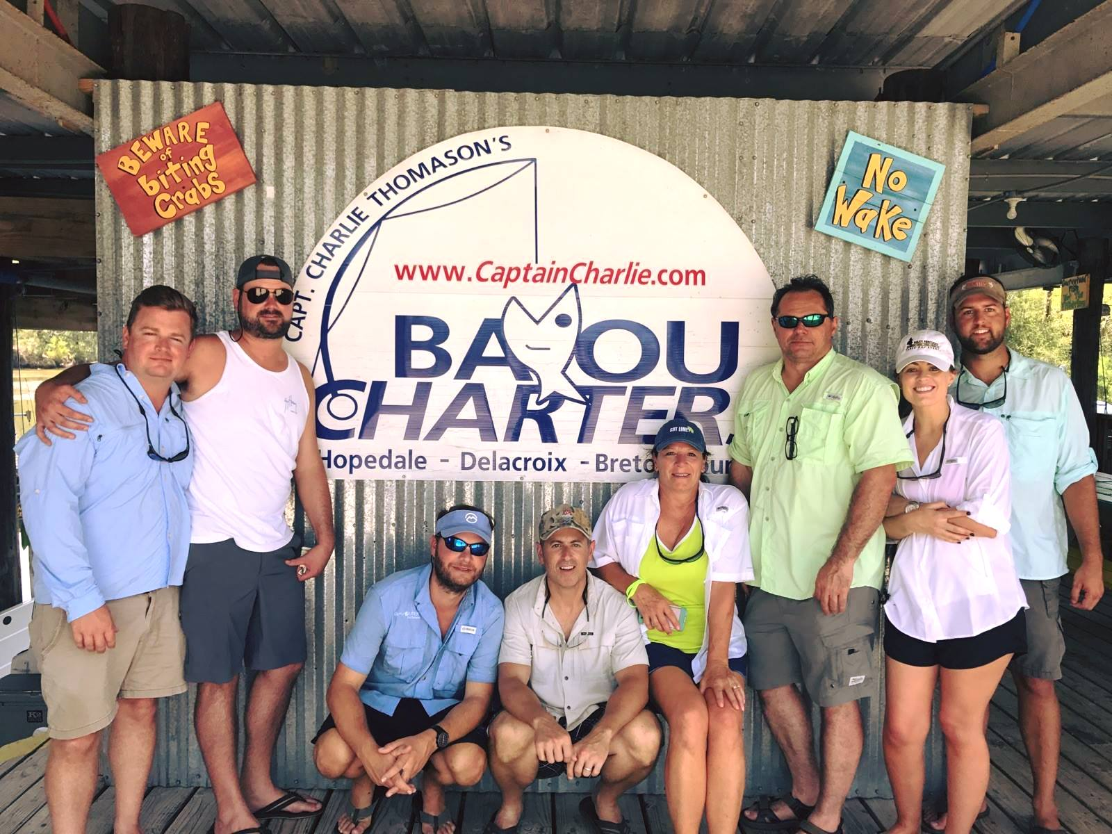 July 26 - Many lips were ripped with Bayou Charters in Hopedale, LA.
