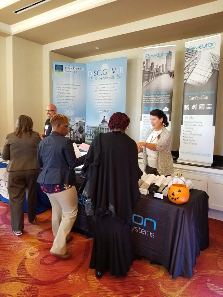 October 20 - Jan working it at the Municipal Association Conference in South Carolina.