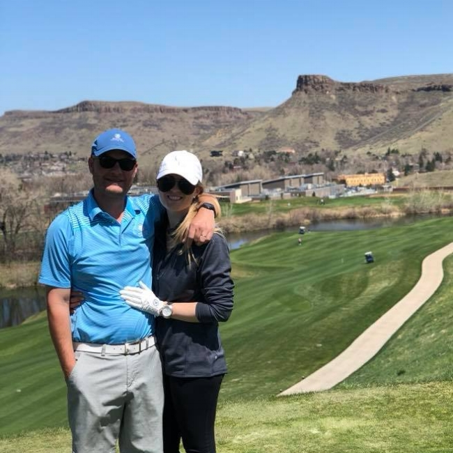 A quick 18 holes in the beautiful Golden, CO, for our anniversary.