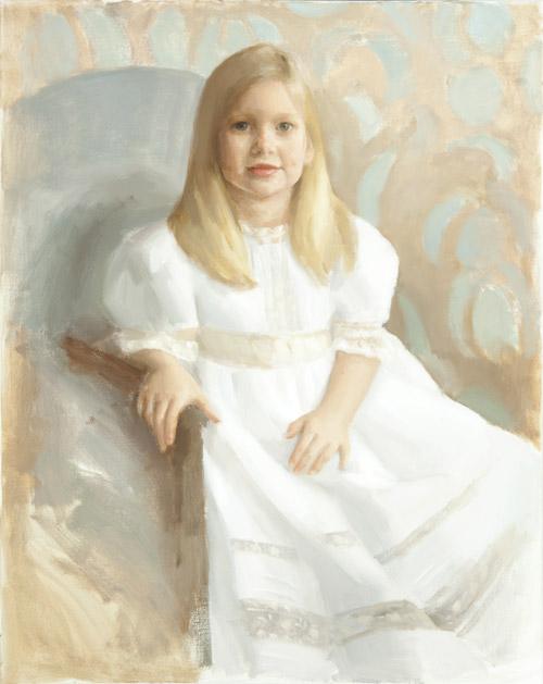Children's oil portrait