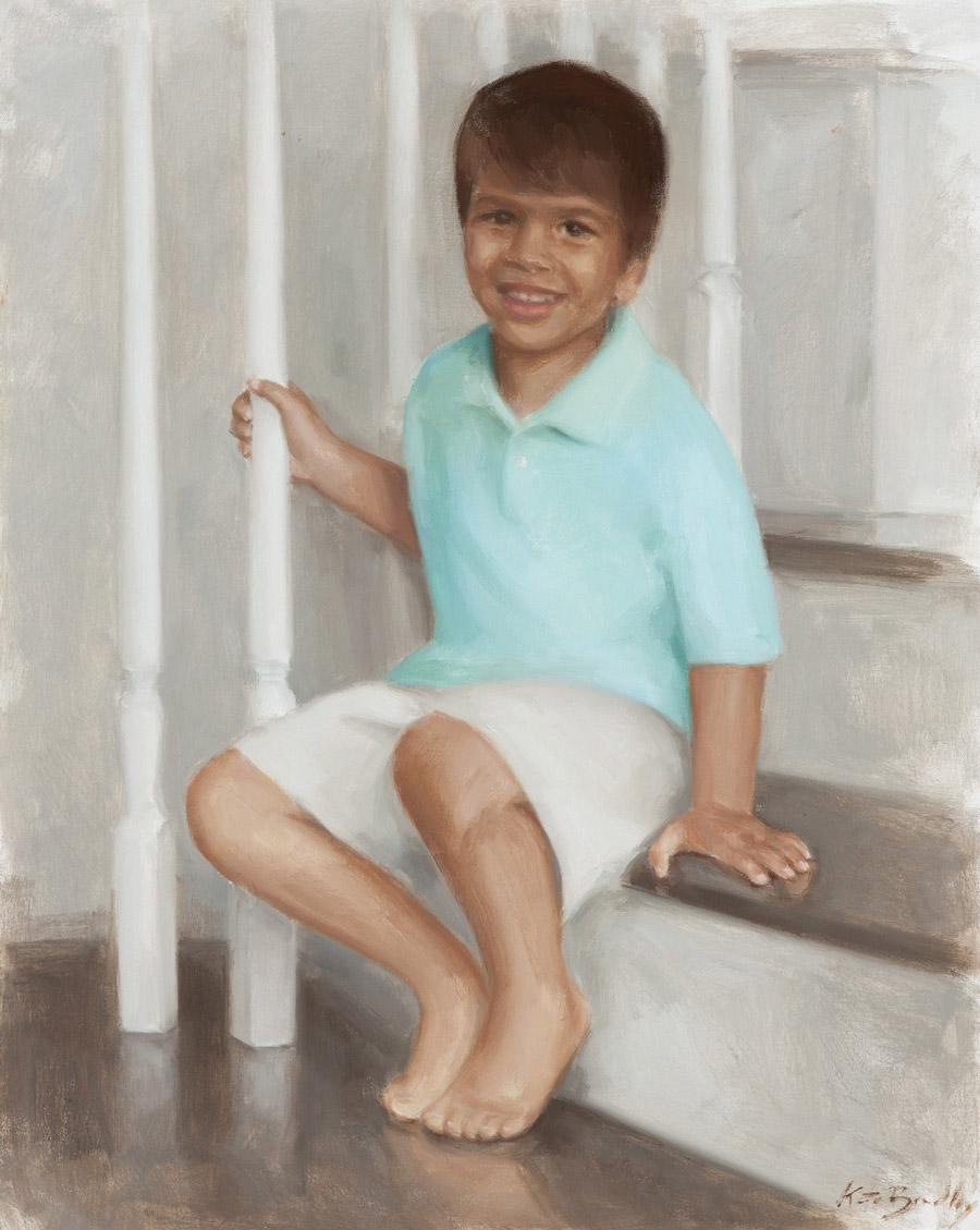 Ari Madasu, Age 4, Oil on canvas, Memphis, TN