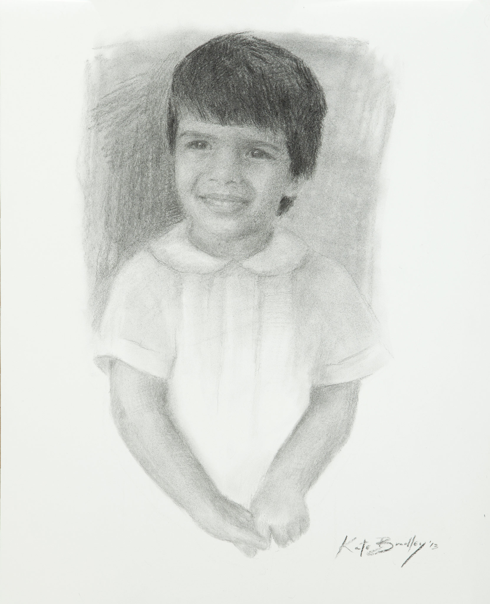 Ari Madasu, Age 3, Oil on canvas