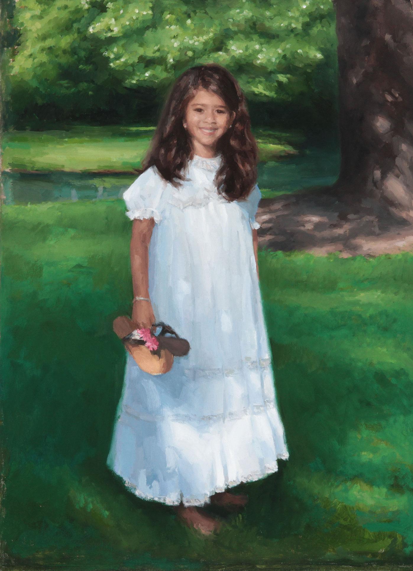 Meghana Madasu, Age 5, Oil on Canvas, Memphis, TN
