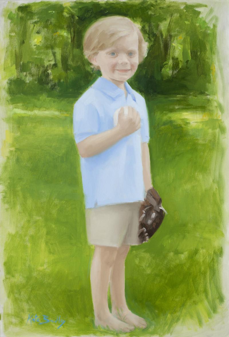 Tanner Sherman, Age 5, Oil